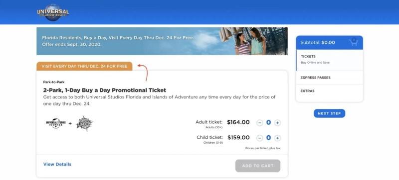 Universal Orlando ingressos moradores