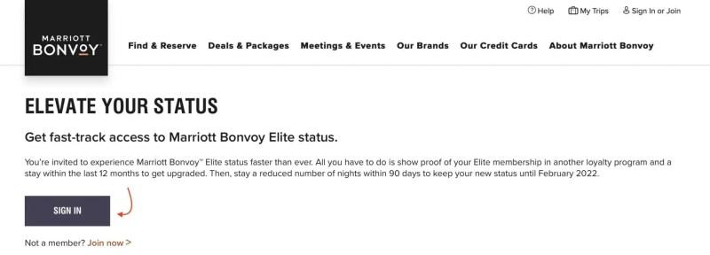 Marriott Bonvoy Status Challenge