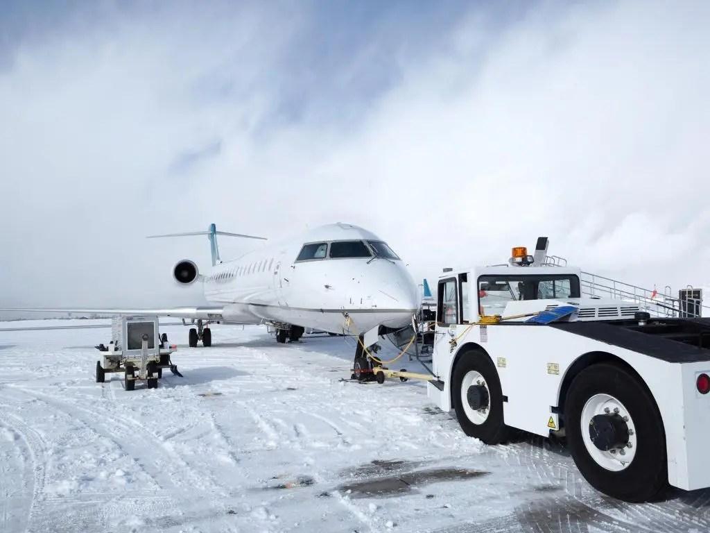 Pushback aeroporto tradicional