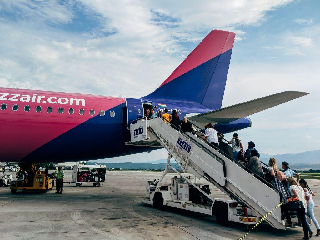 Escada avião aeroporto