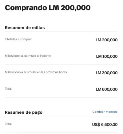 LifeMiles 200% compra milhas