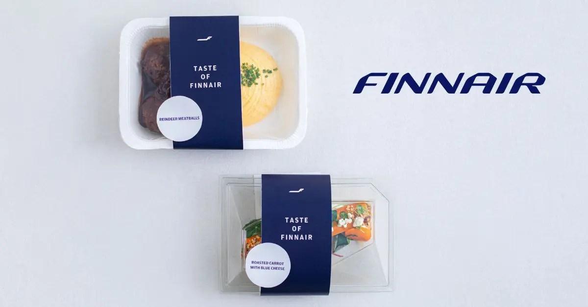 Finnair comida avião supermercado