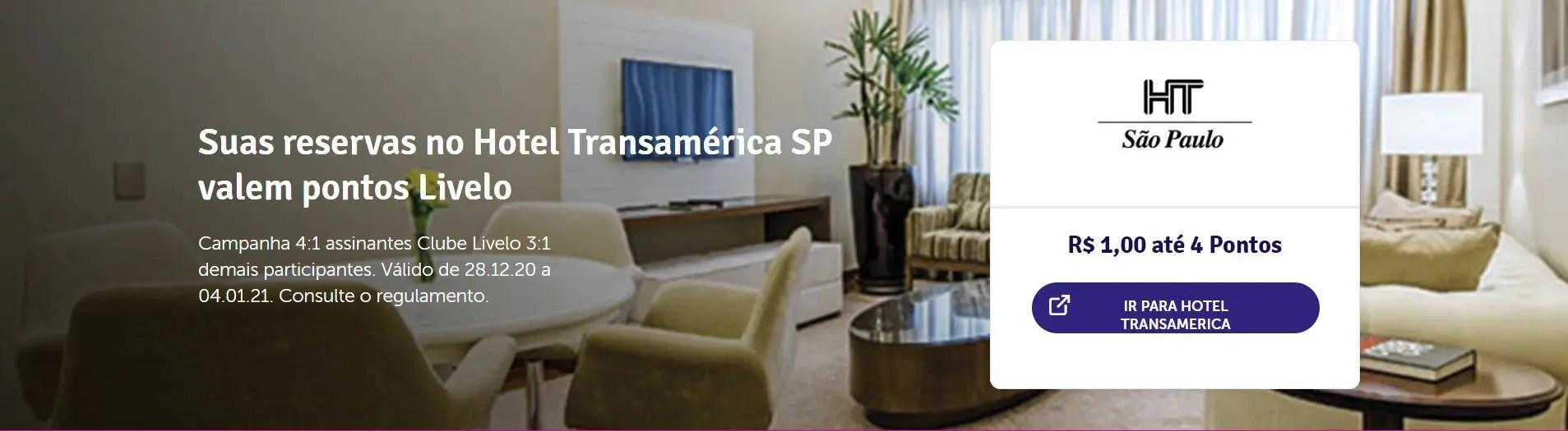 Livelo Transamerica 4 pontos