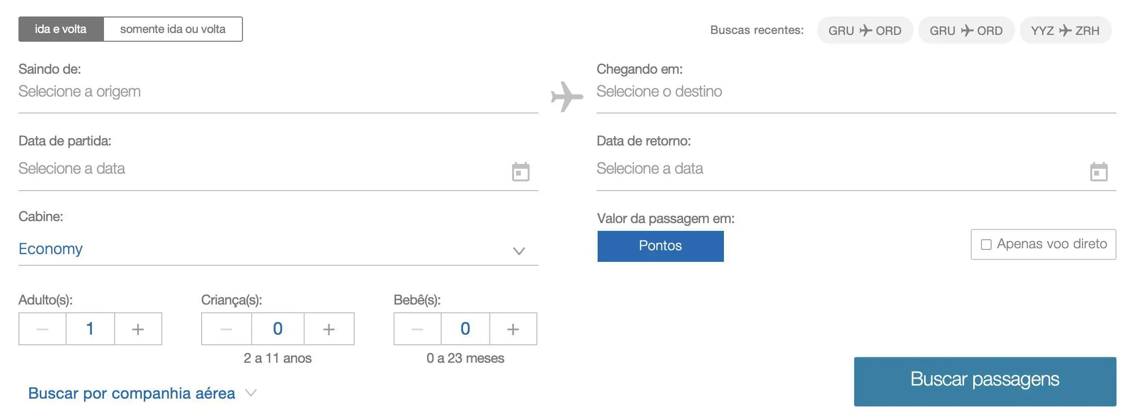 programa TudoAzul voos internacionais