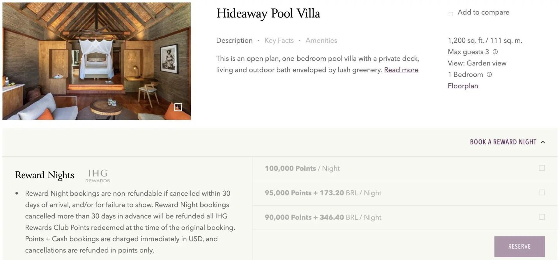 six senses hideaway pool villa