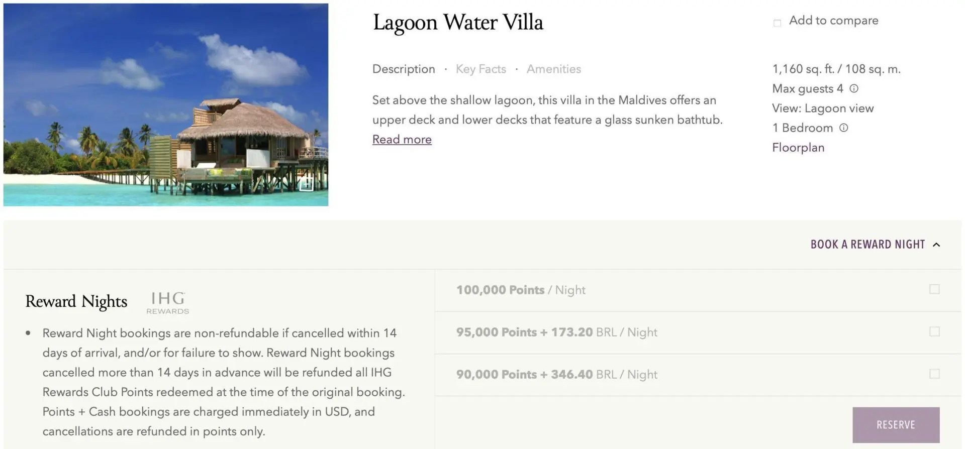 six senses lagoon water villa