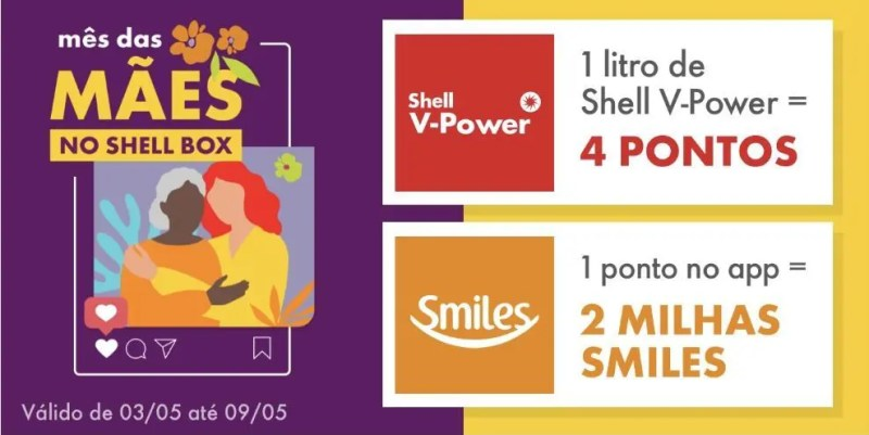 Shell Smiles dobro milhas