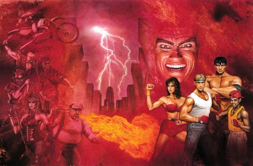 capa da versão japonesa de Streets of Rage 2