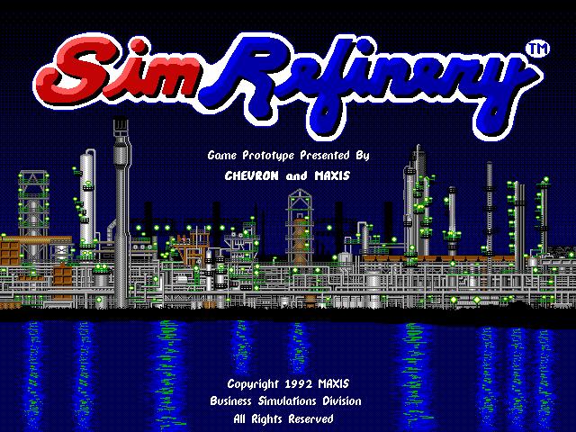 SimRefinery - tela inicial