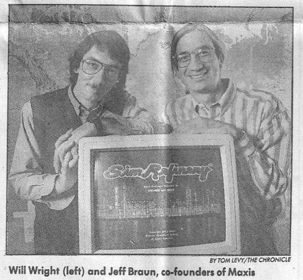 Will Wright e Jeff Braun pousando ao lado de SimRefinery
