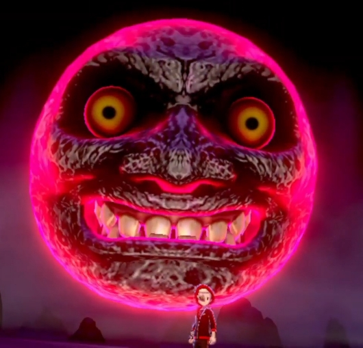 Lua de Zelda Majora's Mask, lua com rosto.