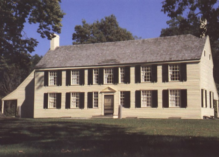 The 1777 Schuyler Mansion was constructed after Burgoyne burnt it in October 1777. Courtesy of the National Park Service.