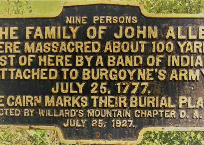 Marker for the Allen family  massacre.