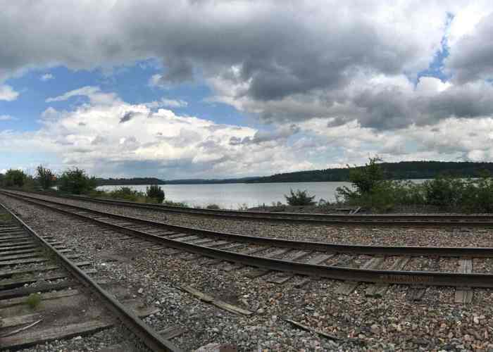 From the Fort View Inn, Fort Ticonderoga is just visible on the left point. Photo by Gretel Schueller.