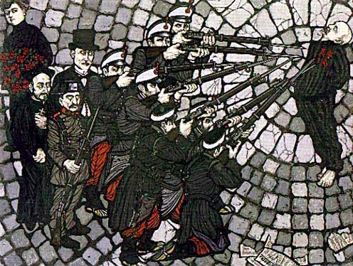 O fuzilamento de Francisco Ferrer, por Flavio Costantini.