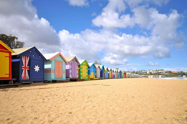 melbourne e a praia de brighton