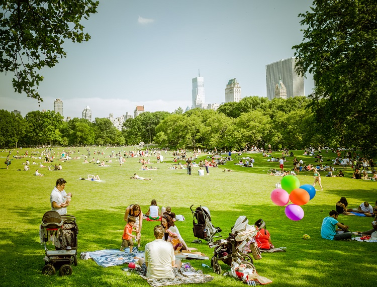 Nova York com crianças Central Park
