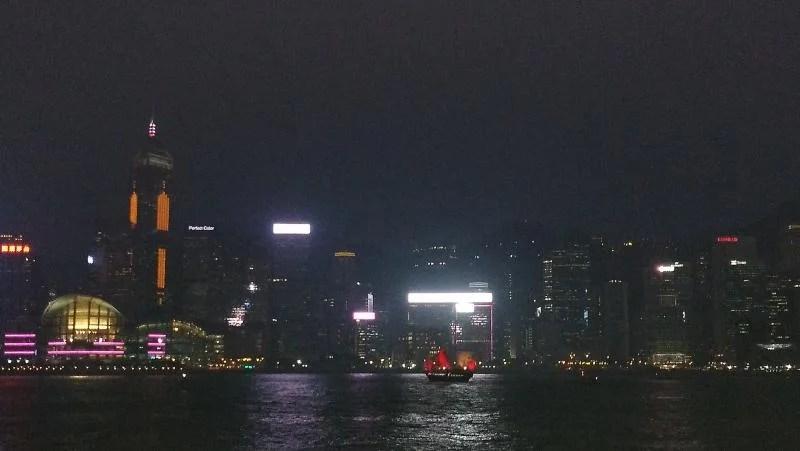 Barco em Hong Kong