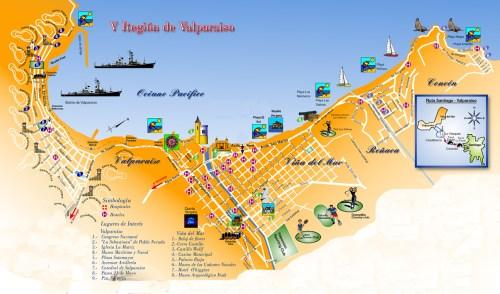 Mapa - Vina Del Mar e Valparaiso