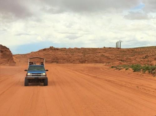 A caminho do Antelope Canyon