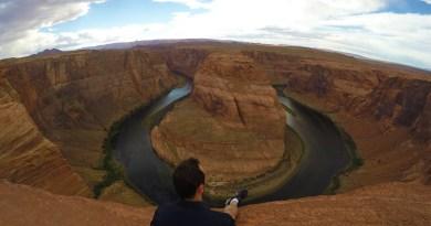 Horseshoe Bend Overlook no Arizona