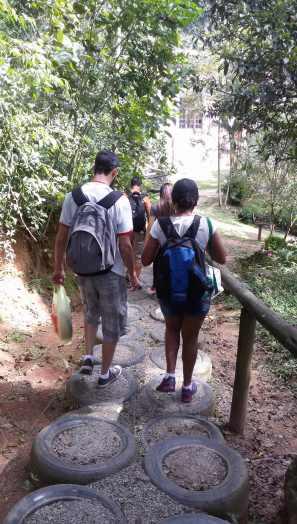 Início da trilha das Cachoeiras - Foto: Patrícia Ribeiro/ Passeios Baratos em SP