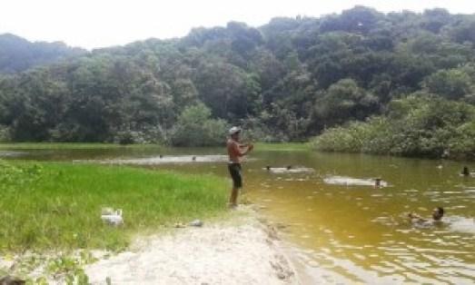 Riacho de águas calmas e mornas. Foto: Patrícia Ribeiro/ Passeios Baratos em SP