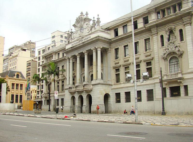 Faculdade de Direito da USP no Largo São Francisco Foto: Marcelo Munhoz