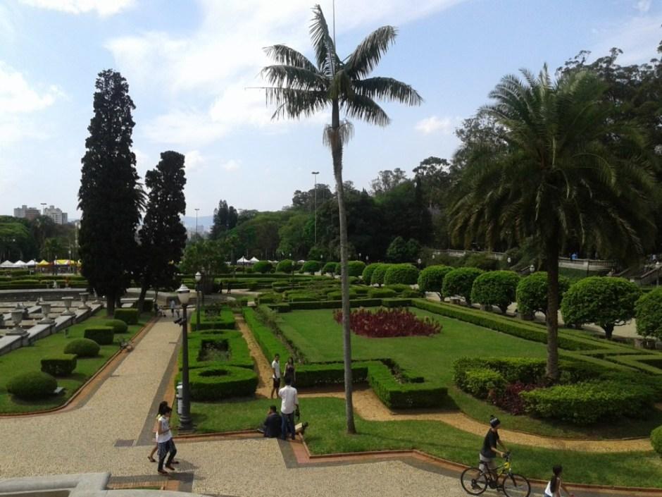 Jardim em estilo francês no Parque da Independência Foto: Patrícia Ribeiro/Passeios Baratos em SP