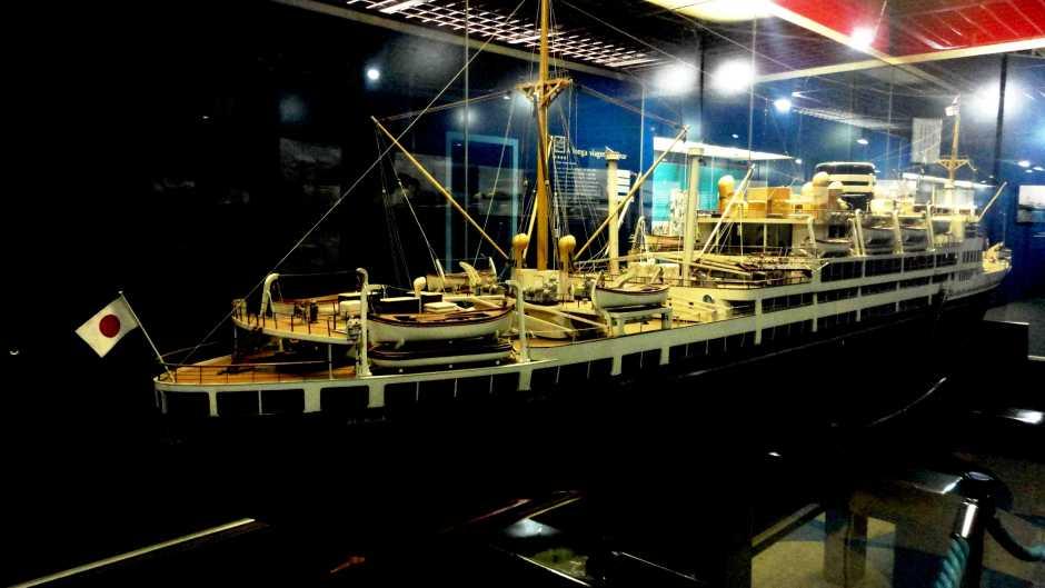 Réplica do navio que trouxe os imigrantes japoneses Foto: Vilma Alcântara