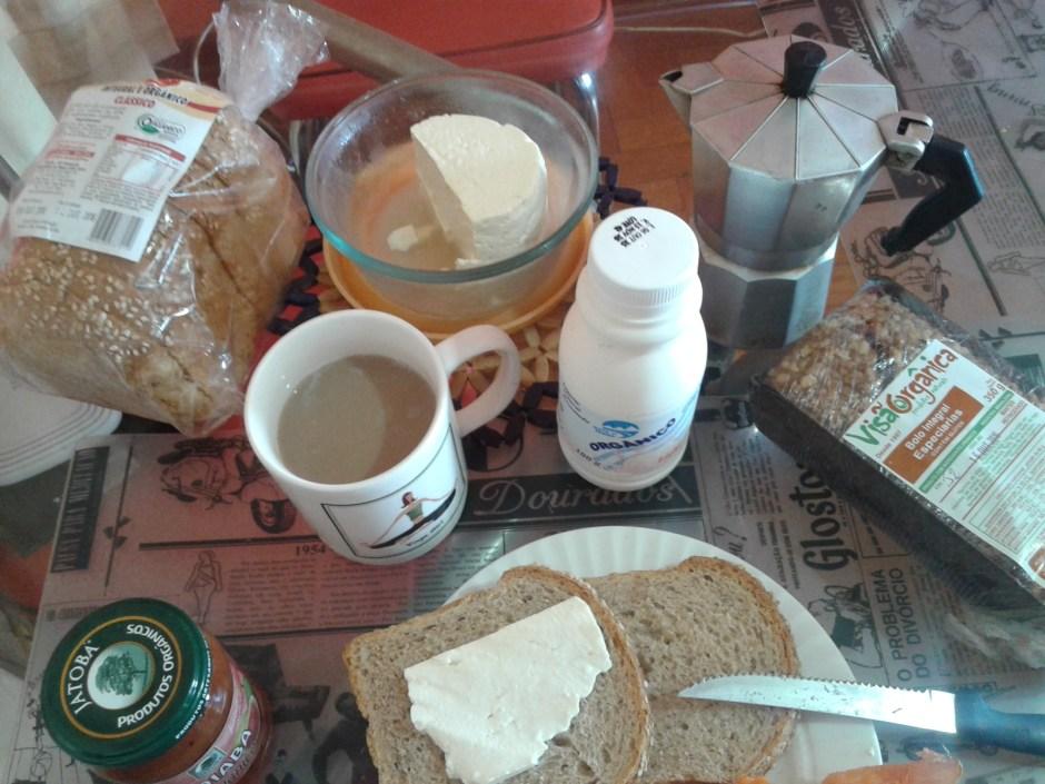 O que eu comprei para o meu café da manhã orgânico. Total: R$ 67,20 Foto: Patrícia Ribeiro/Passeios Baratos em SP