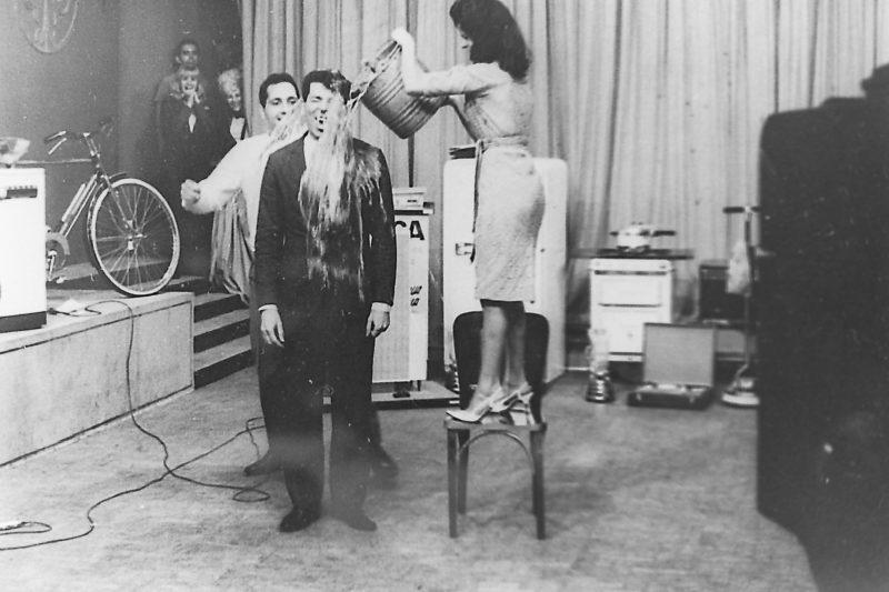 Programa Silvio Santos 1968 - TV Tupi Foto: Moacyr dos Santos - Acervo SBT