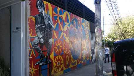 Mural na rua Fradique Coutinho. Foto: Patrícia Ribeiro/ Passeios Baratos em SP