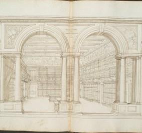 """Diacinto Maria Marmi, """"Biblioteca di Palazzo Pitti"""" (dalla BNCF)"""