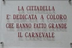 a Cittadella é dedicada a todos que fizeram famoso o Carnaval