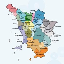 mapa areas toscana