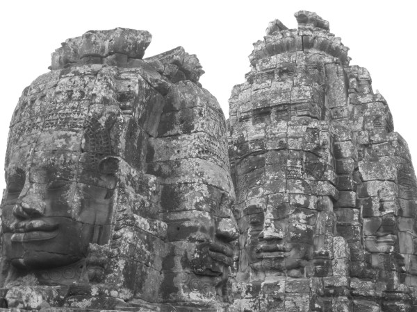 The mysteriously smiling faces of Bayon