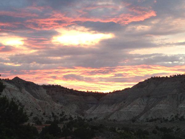 Sunset over the Bryce Canyon KOA