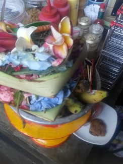 Balinese offerings for the gods giving daily!
