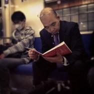 Reader 2     by Fran Simó japan, passengers, tokyo, ubiquography,