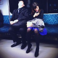 Untitled by shakechan japan, passengers, tokyo, yamanote,