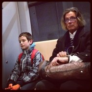 Dos miradas       # by Marta Pacheco instagram, iphonegraphy, metro, munich, passengers, streetphotography, ubiquography,