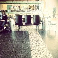 Airport traffic      by southcoasting cafe, emptychairs, passengers, seats, waiting,