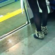 Mujer guepardo     by Núria Rodríguez feet, metro, passengers, piessengers,