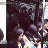 Texting and reflection  by Fran Simó passengers,