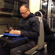 Reading   by Paula Jarrin metroparis, passengers,