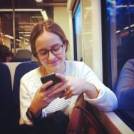 Text & smile by Joan Torrens girl, guatdefak, passengers, phone, tallerdefotos, text, train, wepicbcn, whatsapp,