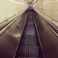 Stairs by Fran Simó candid, color, colour, nyc, passengers, street, streetphotography, subwaypeople,