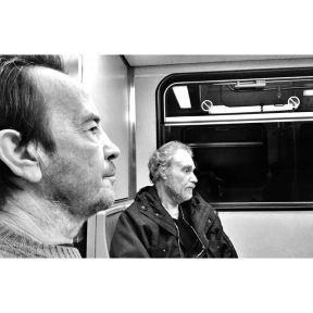 Silence, break to think. by Godo Chillida athens, bkackandwhite, bnw, bnw_life, bnw_society, bw, bw_lover, bw_photooftheday, bw_planet, greece, men, monochrome, passengers, silence, streetphoto, streetphotography, streetphotography_bw, streetphoto_bw, subway, thinking, ubiquography,