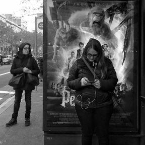Bus stop ad 2 by Benjamín Julve art_camera, barcelona_black, bcn, blackandwhite, bnwitalian, bnw_madrid, bnw_shots, bpw_bw, busstopad, bw, bwzgz, igers, ig_andalucia, ig_barcelona, ig_photooftheday, iphonesia, love_bnw, monochrome, passengers, photooftheday, statigram, street, streetphotografers, streetphotography, transport, webstagram,